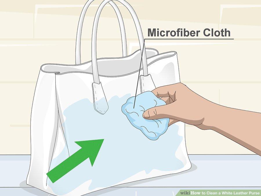 Vết dầu mỡ dễ bị lan nếu bạn không thực hiện cách làm sạch túi xách nam màu trắng cẩn thận