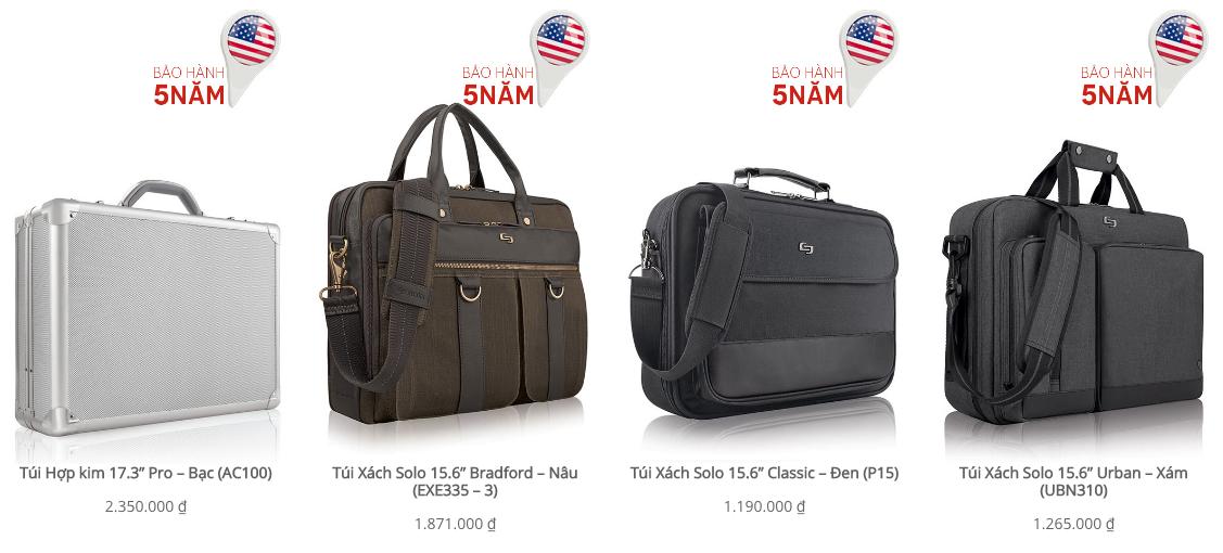 Nhiều mẫu túi xách dành riêng cho nam giới ấn tượng