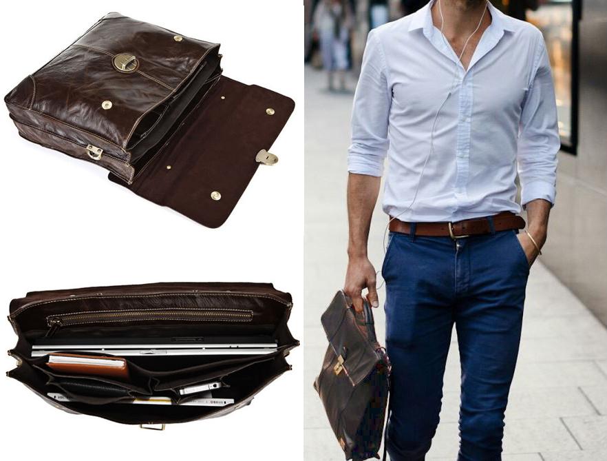 Lựa chọn túi xách nam theo trang phục